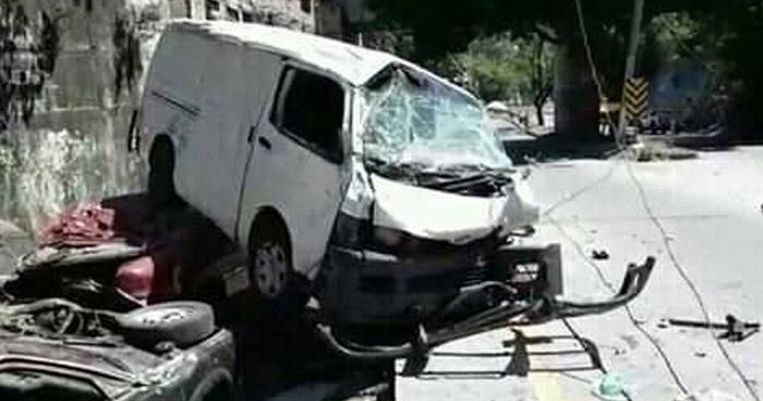 Fuerte accidente en carretera Troncal del Norte