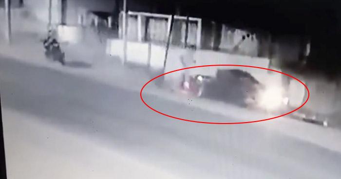 VIDEO   Captan momento exacto en el que conductora choca en Metapán, Santa Ana