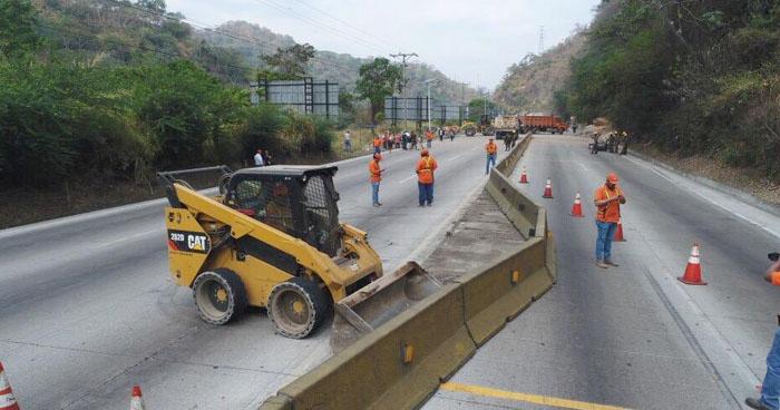 Habilitarán paso en carretera Los Chorros las 7 pm con sentido único
