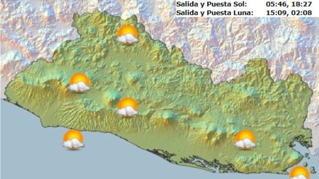 Vaguada favorecerá cielo nublado y leves chubascos con énfasis en la zona norte del país
