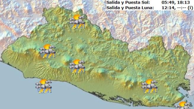 Baja Presión favorecerá tormentas y chubascos para la tarde y noche sobre el territorio