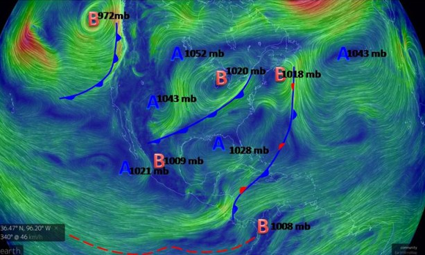 """""""Vientos Nortes"""" tendrán velocidades de entre 20 y 40 kilómetros por hora"""