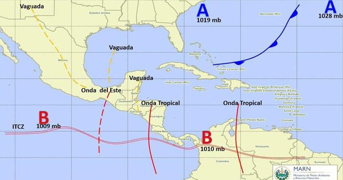 Paso de una Onda Tropical genera probabilidad de lluvias sobre el territorio