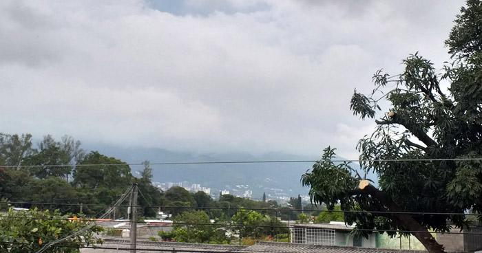 Hoy se esperan lluvias con énfasis en la zona occidental cordillera volcánica y franja costera del país