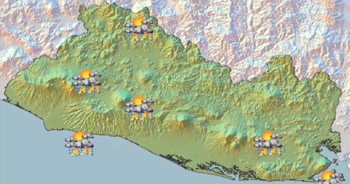 Probabilidad de lluvias débiles la zona costera centro-occidente