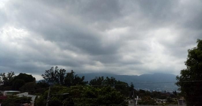Se esperan lluvias débiles con énfasis en la zona norte y oriental del país