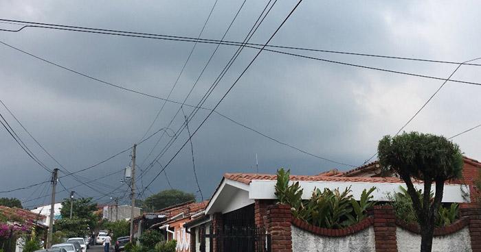 Probabilidad de lluvias con énfasis en sector norte de La Unión y Morazán