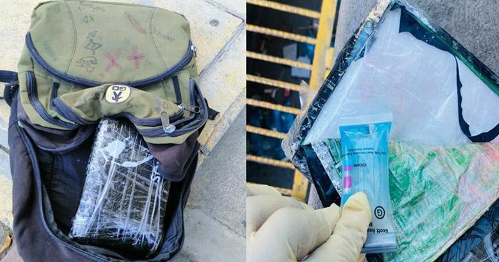 Capturados cuando transportaban un paquete de cocaína en Metapán
