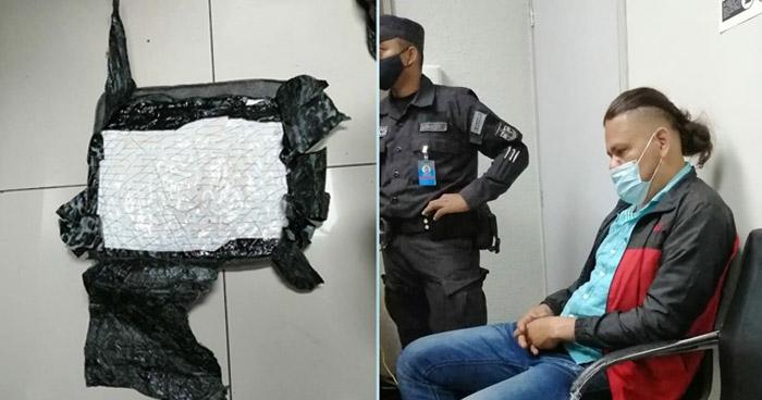 Capturan a colombiano que pretendía ingresar droga a El Salvador