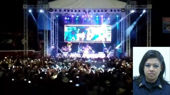 Capturan a Subinspectora de la PNC en concierto de Calibre 50 en Santa Ana