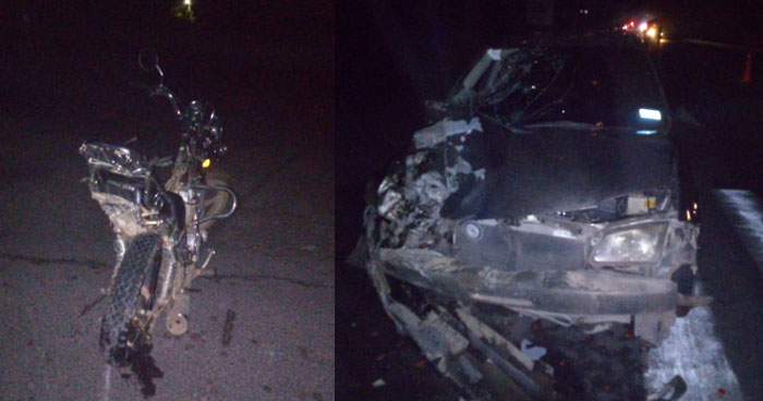 Conductor ebrio chocó y mató a motociclista en carretera Troncal del Norte