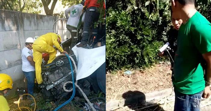 Conductor ebrio causa aparatoso accidente en el Puerto de La Libertad