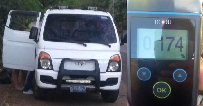Capturan a hombre por conducir con más de 100 grados de alcohol en San Miguel