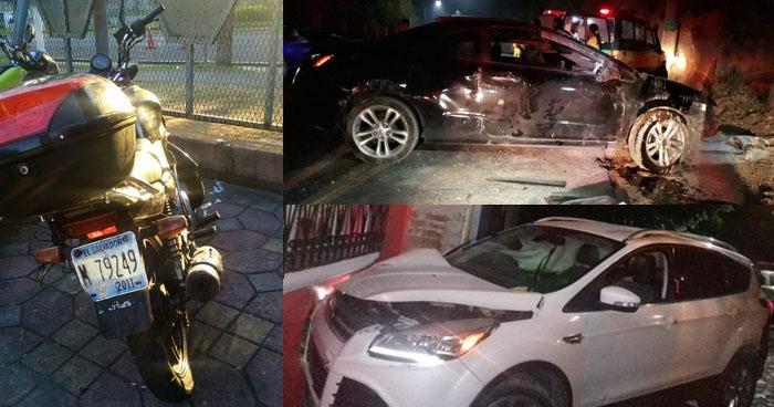 Conductores ebrios detenidos tras accidentarse en diferentes puntos del país