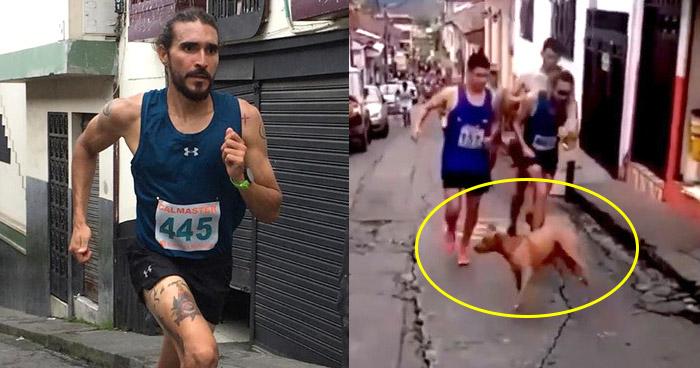 Corredor pierde patrocinadores por patear a un perro