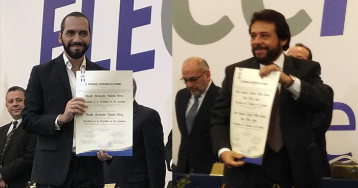 TSE entrega credenciales al Presidente y Vicepresidente electos el 3 de Febrero