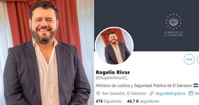 Hackean cuenta de Twitter del Ministro de Seguridad Rogelio Rivas