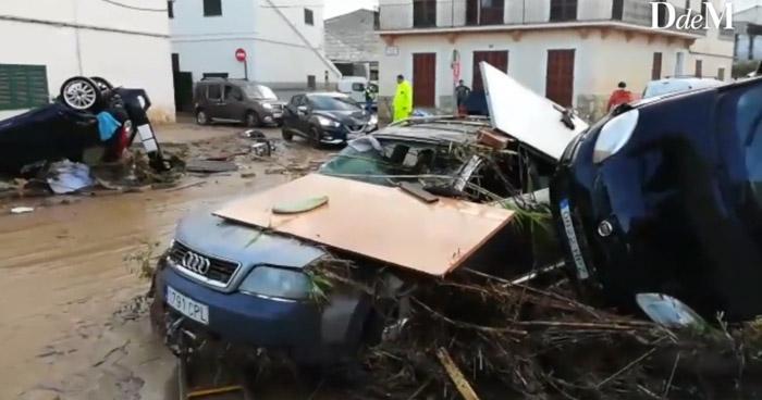 Nueve muertos y varios desaparecidos por torrenciales lluvias en la isla de Mallorca, España