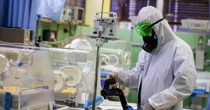 Desinfectan instalaciones del Hospital Bloom