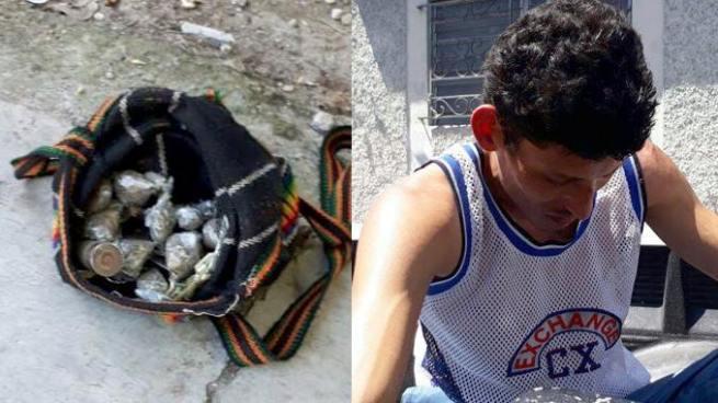Capturan a sujeto con 25 porciones de marihuana y 3 cartuchos para escopeta en San Salvador