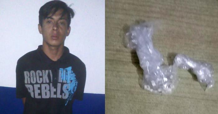 Capturan a joven y le incautan 27 porciones de crack en San Salvador