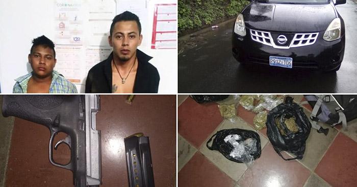 Pandilleros capturados cuando distribuían droga en San Sebastián Salitrillo, Santa Ana