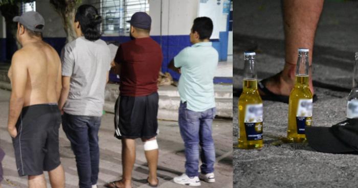 Detienen a sujetos que departían fuera de sus casas en Tonacatepeque