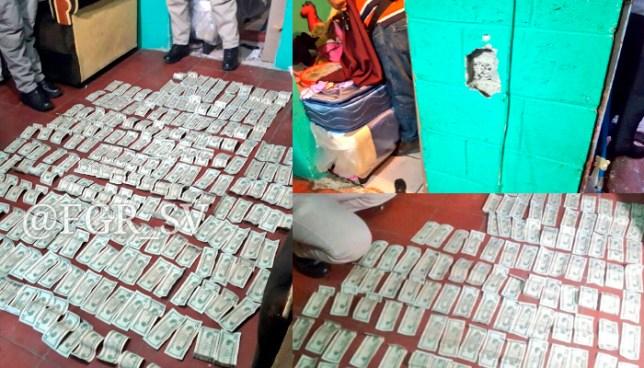 Encuentran miles de dolares en las paredes de una casa y enterrados en el patio