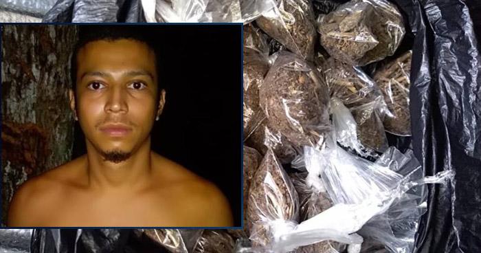 Incautan cerca de 30 porciones de droga a un pandillero en Chalatenango