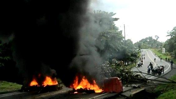 Disturbios en Colombia dejan un muerto, 11 heridos y 41 detenidos