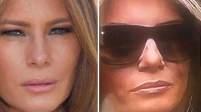 Enloquecen las redes por esta supuesta doble de Melania Trump durante un discurso de Donald Trump