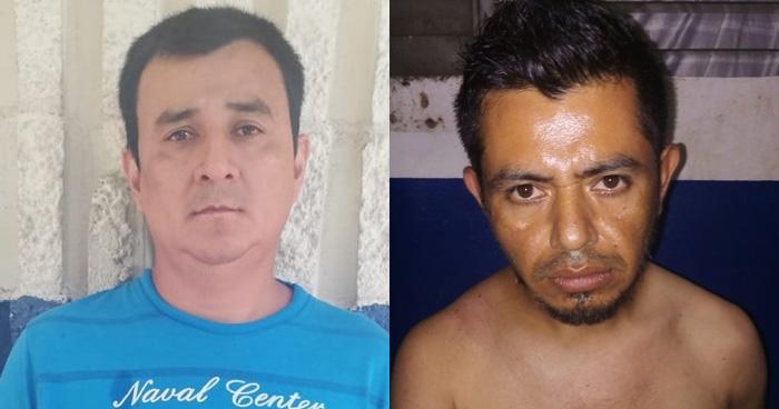 Dos hombres fueron capturados por la PNC en las ultimas horas
