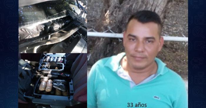 Capturan a traficante con más de $20 mil dólares en droga oculta en su vehículo