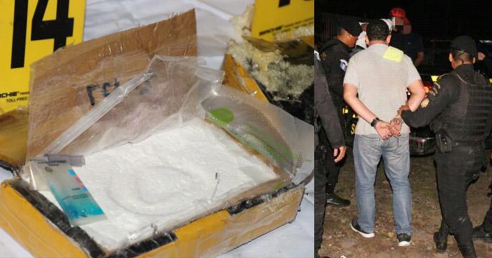 Capturan a salvadoreño junto a inspector de Guatemala por transportar 17 kilos de droga en un cabezal