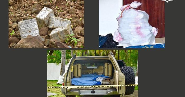 $18 Millones en droga incautados en zonas costeras de San Miguel y La Paz