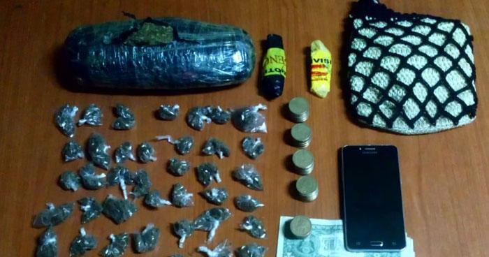 Sorprenden a pandillero cuando distribuía droga en el Puerto de La Libertad