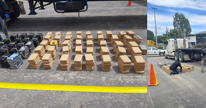Detienen rastra que transportaba 380 kg de cocaína valorados en más de $10 millones