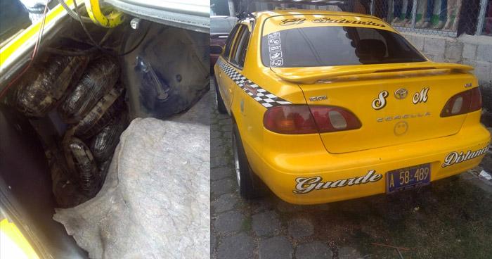 Capturan a taxista que transportaba alijo de droga destinada para un pandillero en Sociedad