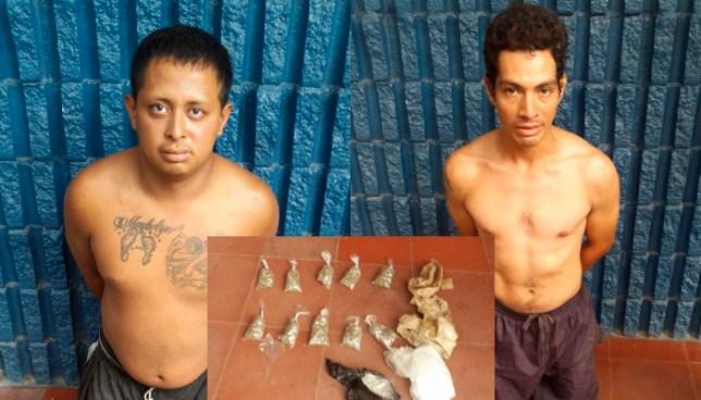 Dos sujetos fueron detenidos con mas de 100 porciones de droga en Soyapango