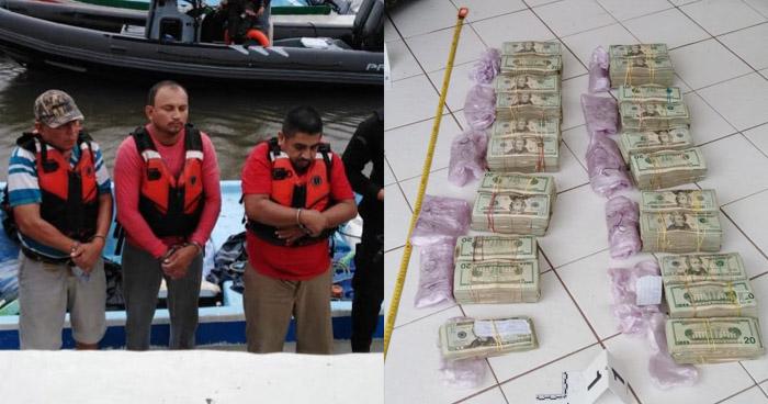 Interceptan lancha con 3 guatemaltecos cuando transportaban más de $200 mil con residuos de cocaína