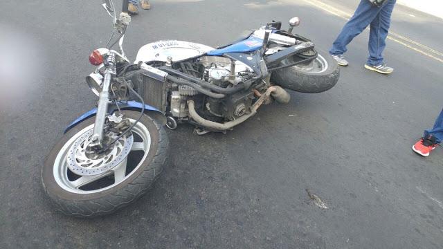 Hombre capturado por embestir motocicleta de la PNC
