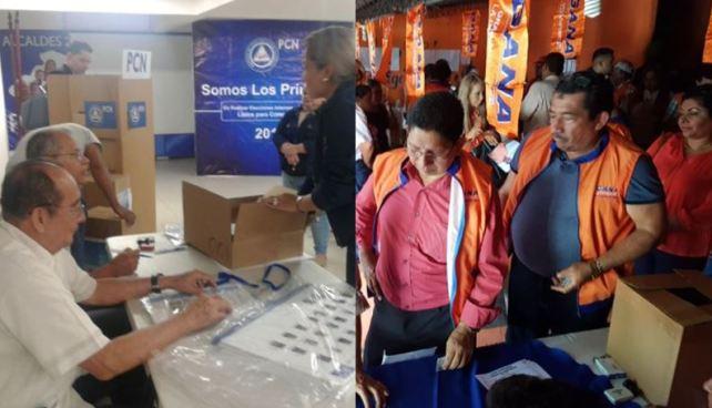 GANA y PCN finalizan sus elecciones internas de candidatos 2018