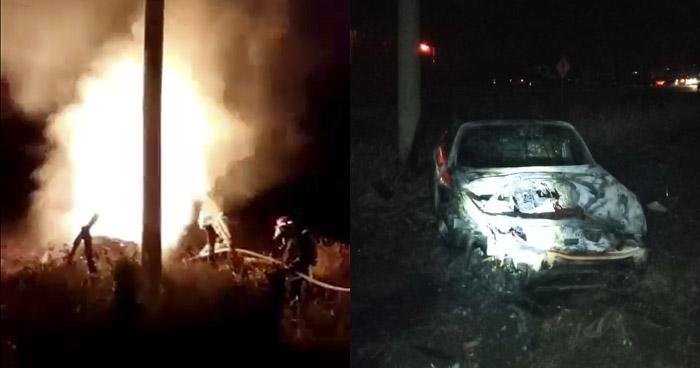 Dos fallecidos en aparatoso accidente de tránsito cerca del desvío a El Espino, Usulután