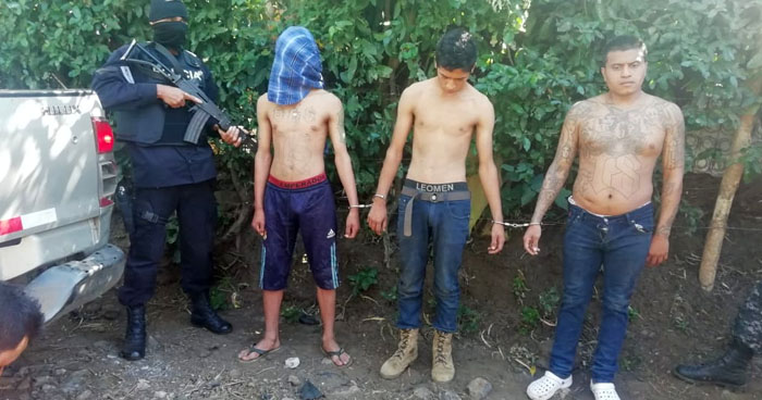 Un pandillero muerto y tres capturados dejó enfrentamiento en Armenia, Sonsonate