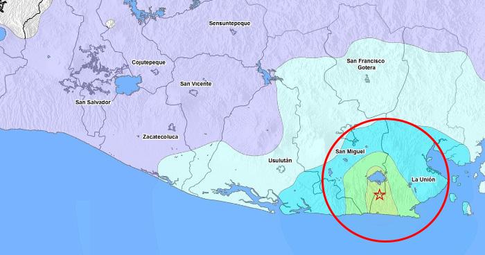 Sismos sacuden el oriente del país esta mañana, enjambre sísmico Chirilagua – Intipucá