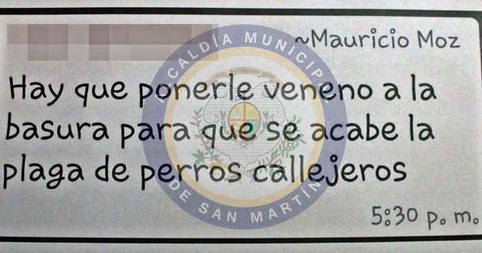 Sancionan con $1,200 a hombre que aceptó haber envenenado perros en San Martín