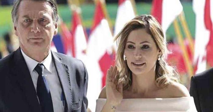 Esposa de Jair Bolsonaro da positivo a la prueba de COVID-19
