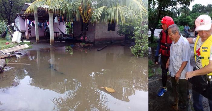 24 familias fueron evacuadas por alto riesgo de inundaciones en Sonsonate y Usulután