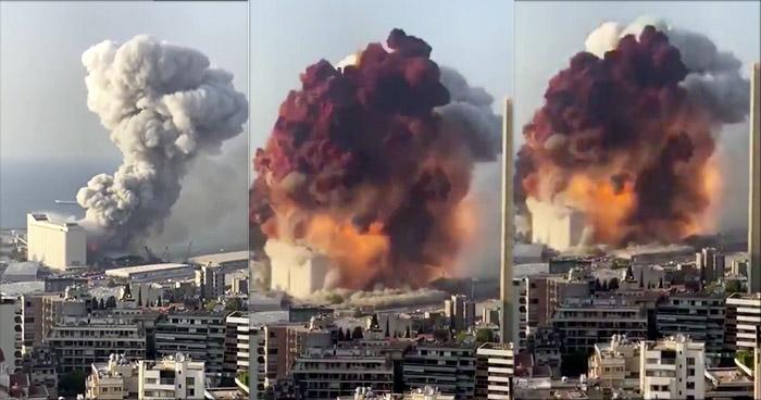 VIDEO   Aterradora explosión en la capital libanesa de Beirut deja varios heridos