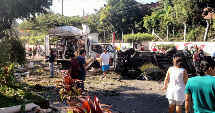 Explosión de venta de gas deja 3 fallecidos y al menos 20 lesionados en la Zacamil